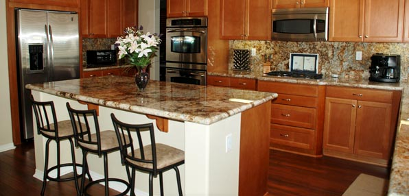 Kitchen in the Scrapbook Retreat House in the Temecula Valley